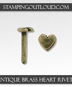 Antique Brass Heart Rivets