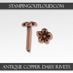 Antique Copper Daisy Rivets