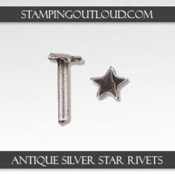 Antique Silver Star Rivets