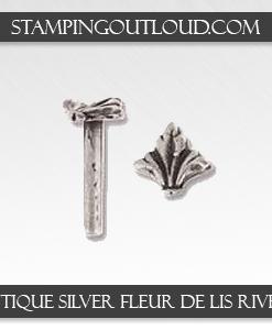 Antique Silver Fleur-de-lis Rivets