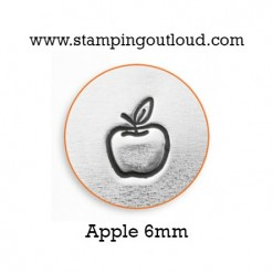 Apple Metal Design Stamped on a Metal Blank