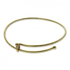 Antique Brass Expandable Wire Bracelet