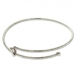 Antique Silver Expandable Wire Bracelet