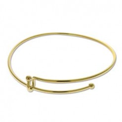 Gold Plate Expandable Wire Bracelet