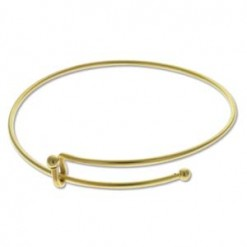 Brass Oxide Plate Expandable Wire Bracelet