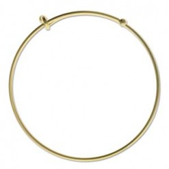 Matte Gold Expandable Wire Bracelet