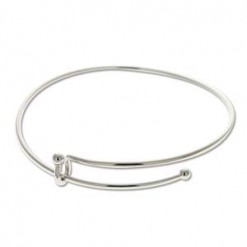 Shiny Silver Expandable Wire Bracelet