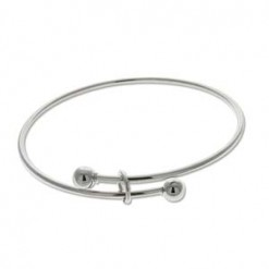 Bright Silver Expandable Wire Bracelet