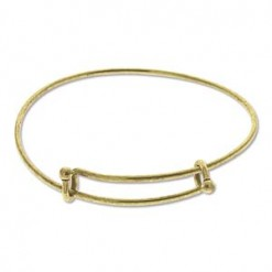 Antique Gold Plate Expandable Wire Bracelet