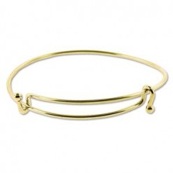 Bright Gold Plate Expandable Wire Bracelet