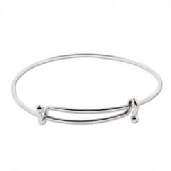 Matte Silver Expandable Wire Bracelet