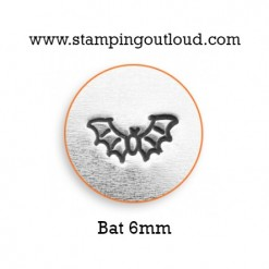 Bat Metal Design Stamp on a metal blank