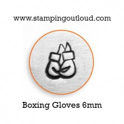 Boxing Gloves Metal Design Stamp on a metal blank