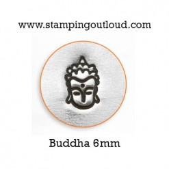 Buddha Metal Design Stamp on a metal blank