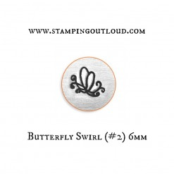 Butterfly Swirl Metal Design Stamp