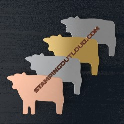 Cow Shaped Stamping Blanks