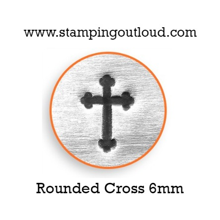 Rounded Cross Metal Design Stamp