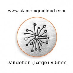 Large Dandelion Metal Design Stamp