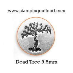 Dead Tree Metal Design Stamp on a metal blank
