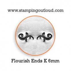 Flourish Ends - K Metal Design Stamp