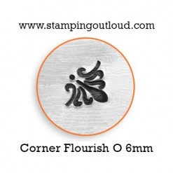 Corner Flourish O Metal Design Stamp