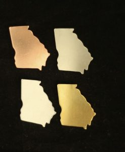 Georgia State Silhouette Necklace Blanks
