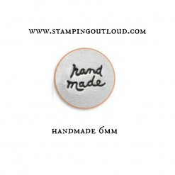 Jewelry stamp that says Handmade