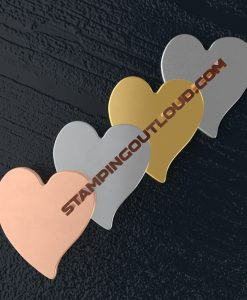 Tilted Heart Shaped Stamping Blanks