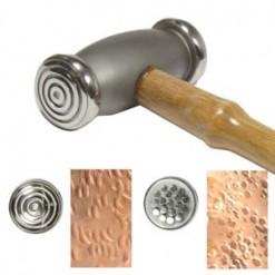 Try a texture hammer for jewelry and you will be hooked! This texture hammer for jewelry makes deep impressions in yourmetal.