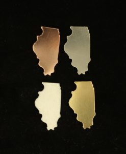 Illinois State Silhouette Necklace Blanks