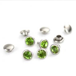 Light Green Czech Crystal Snap Rivets