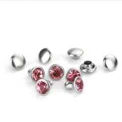 Pink Czech Crystal Snap Rivets