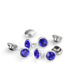 Royal Blue Czech Crystal Snap Rivets
