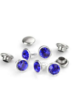 Royal Blue Czech Crystal Snap Rivets