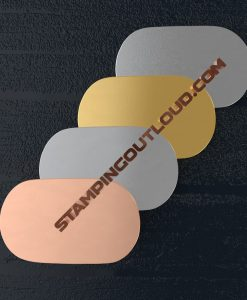 Large Oval Metal Blank in Copper, Aluminum, Brass, and Nickle Silver