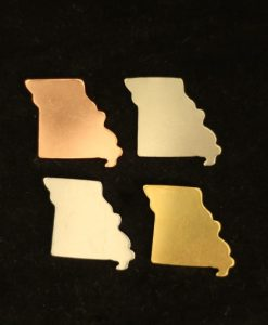 Missouri State Silhouette Necklace Blanks