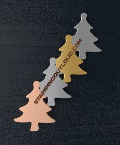Christmas Tree Shaped Stamping Blanks