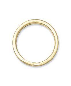 12mm Gold Toned Split Rings