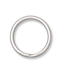 12mm Silver Toned Split Rings
