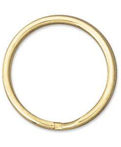 24mm Gold Toned Split Rings