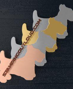 Scottie Dog Shaped Stamping Blanks