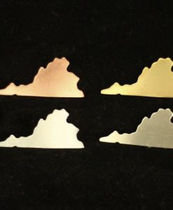 Virginia State Silhouette Necklace Blanks