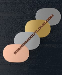 Wide Oval Metal Blank in Copper, Aluminum, Brass, and Nickle Silver