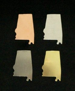 Alabama State Silhouette Necklace Blanks