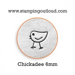 Chickadee Metal Design Stamp