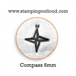 Compass Metal Design Stamp