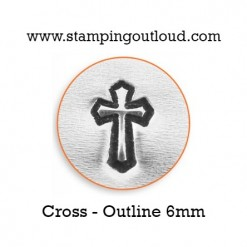 Outlined Cross Metal Design Stamp