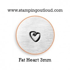 Fat Heart Metal Design Stamp