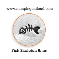 Fish Skeleton Metal Design Stamp