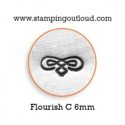 Flourish-C Metal Design Stamp